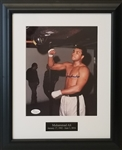 Muhammad Ali Signed Boxing 8x10 Photo Framed to 13x16 (JSA LOA)