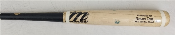 Nelson Cruz 2016 Marucci Pro Model Game Used Cracked Bat (MLB Certified)