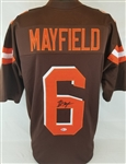 Baker Mayfield Signed Cleveland Browns Custom Jersey (Beckett Witness COA)