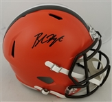 Baker Mayfield Signed Full Size Replica Cleveland Browns Helmet (Beckett Witness COA)