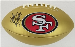 John Taylor Signed San Francisco 49ers Logo Football (JSA Witness COA)