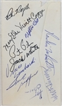 Vince Lombardi, Pete Rozelle, Wellington Mara +9 Others Signed Envelope (JSA LOA)