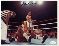 Muhammad Ali Signed 8x10 Rumble In The Jungle Photo vs George Foreman (JSA LOA)