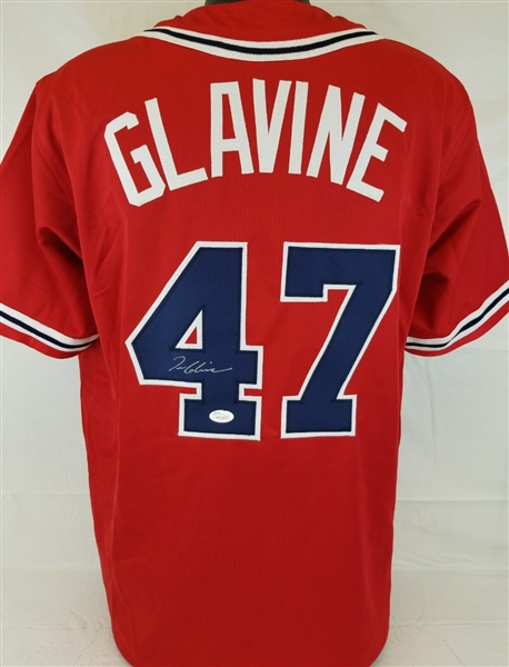 Tom Glavine Signed Atlanta Braves Custom Jersey (JSA Witness COA)