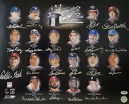Baseballs Greatest Nicknames Signed 16x20 Photo w/ 20 Signatures Including Berra & Seaver (PSA/DNA LOA)