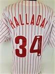Roy Halladay (d. 2017) Signed Philadelphia Phillies Custom Jersey (JSA LOA)