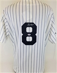 Yogi Berra Signed New York Yankees Majestic Jersey (PSA/DNA COA)