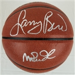 Larry Bird & Magic Johnson Signed Spalding I/O Basketball (Schwartz Sports COA & Bird Hologram)