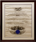 President Theodore Roosevelt Signed 1903 Navy Commission Document Framed (Beckett LOA)