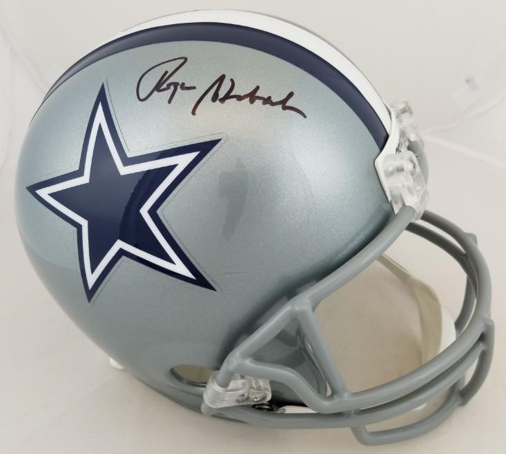 e1149456b09 Roger Staubach Signed Full Size Replica Dallas Cowboys Helmet (JSA Witness  COA)