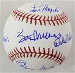 Stan Musial, Bob Gibson, Lou Brock, Ozzie Smith & Red Shoendienst Signed OML Baseball (PSA/DNA LOA)
