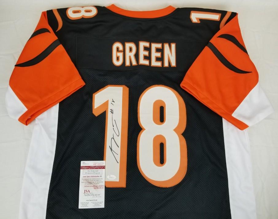 d6faa77db5f A.J. Green Signed Cincinnati Bengals Custom Jersey (JSA Witness COA). Prev  Next