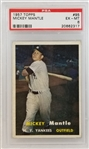 Mickey Mantle Yankees 1957 Topps #95 - Graded EX-MT 6 (PSA/DNA)