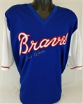 Hank Aaron Signed Atlanta Braves Majestic Cooperstown Collection Jersey (JSA LOA)