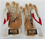 Jimmy Rollins Signed Game-Used Nike Batting Gloves (JSA COA)