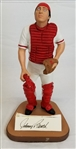 "Johnny Bench Signed 1989 ""Poised for Fame"" Artist Proof Gartlan Figurine - Only 200 Made"