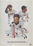 Barry & Bobby Bonds Signed Pride of San Francisco 20x28 Lithograph (JSA COA)