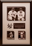 Babe Ruth & Lou Gehrig Limited Edition Framed New York Yankees Display