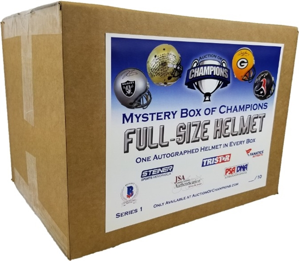 #9 of 10 - Autographed Full Size Helmet Mystery Box Series 1 - *Two Bonus $50 credits!*