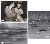 Lot of 3 Bobby Thomson & Ralph Branca Signed 8x10 Photos (JSA COAs)