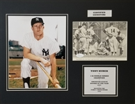 Tony Kubek Signed Yankees Newspaper Clipping 14x18 Matted Display (JSA COA)