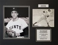 Sal Maglie Signed New York Giants Cut Signature 14x18 Matted Photo Display (JSA COA)