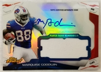 Marquise Goodwin Bills 2014 Topps Finest Refractor Autographed Patch Card
