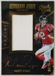 Matt Ryan Signed 2016 Panini Black Gold Game-Used Jersey Auto Patch Card Lmt Ed. #03/25