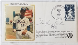 Dwight Gooden Signed New York Mets Rookie Debut 3.5x5.5 1984 Cachet Envelope (JSA COA)