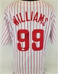 "Mitch Williams ""Wild Thing 93 NL Champs"" Signed Phillies Custom Jersey (JSA COA)"