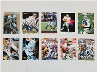 Lot of (10) Troy Aikman Dallas Cowboys Football Cards