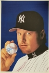 Roger Clemens Signed New York Yankees 20x30 Canvas (JSA COA)