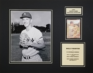 Billy Martin Signed 1962 Topps #208 Card 14x18 Matted Photo Display (JSA COA)