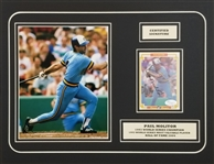 Paul Molitor Signed 1984 Donruss Champions #54 Card 14x18 Matted Photo Display (JSA COA)