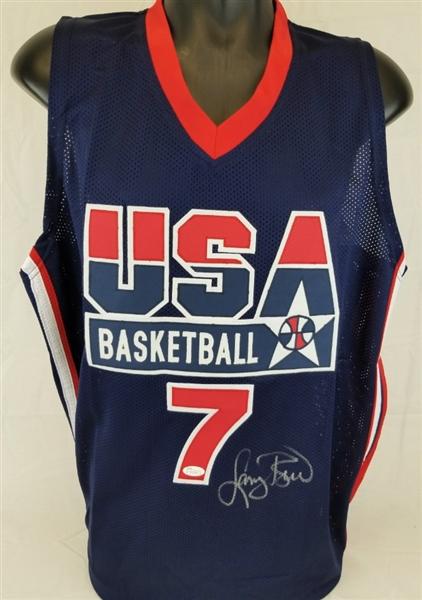 8aca02b92 Lot Detail - Larry Bird Signed Team USA Basketball Custom Jersey ...