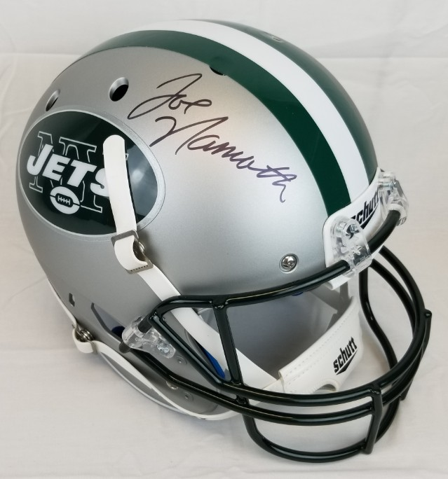 Joe Namath Signed Full Size Replica New York Jets Helmet (JSA Witness COA) b330a6f62