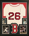 Wade Boggs Signed Boston Red Sox Custom Jersey Framed Display (JSA Witness COA)