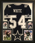 "Randy White ""HOF 94"" Signed Dallas Cowboys Custom Jersey Framed Display (JSA Witness COA)"