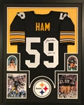 "Jack Ham ""HOF 88"" Signed Pittsburgh Steelers Custom Jersey Framed Display (JSA Witness COA)"