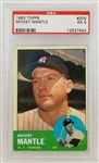 Mickey Mantle Yankees 1963 Topps #200 - Graded EX 5 (PSA/DNA)