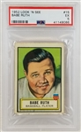Babe Ruth 1952 Loook N See #15 - Graded EX 5 (PSA/DNA)
