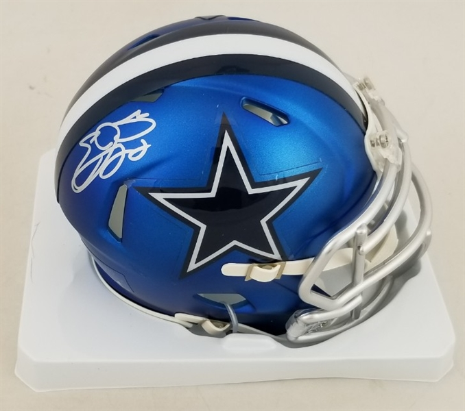 Emmitt Smith Signed Dallas Cowboys Blaze Mini Helmet (Schwartz Sports COA)