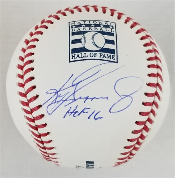"Ken Griffey Jr. ""HOF 16"" Signed Hall of Fame OML Baseball (Beckett Witness & Tristar)"