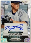 Jimmy Nelson Signed Brewers 2014 Panini Prizm Rookie Card Lmt Ed. #49/75