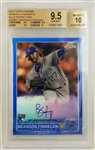 Brandon Finnegan Signed 2015 Topps Chrome Blue Refractor Rookie Card - Graded Gem Mint 9.5 Auto 10 (BGS)
