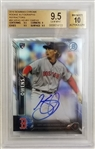Henry Owens Signed 2016 Bowman Chrome Refractor Rookie Card - Graded Gem Mint 9.5 Auto 10 (BGS)
