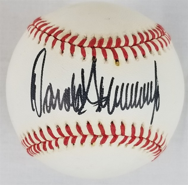 President Donald Trump Full Signature Signed OAL Baseball (JSA LOA)