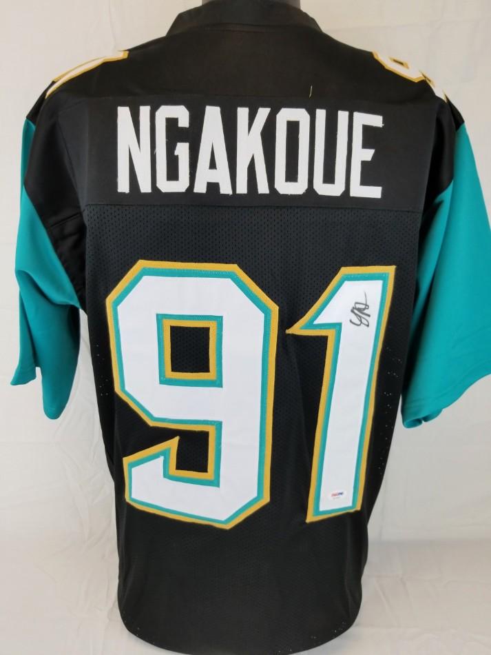 467877e4b2f Yannick Ngakoue Signed Jacksonville Jaguars Custom Jersey (PSA/DNA COA)