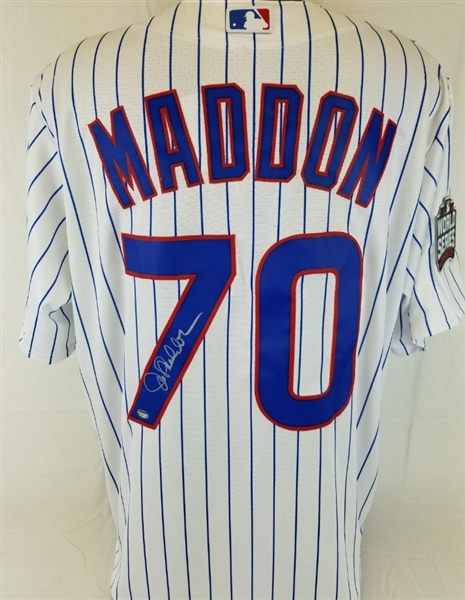 2f2bcdf34 Joe Maddon Signed Chicago Cubs Majestic Cool Base Jersey w  2016 World  Series Patch (