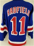 "Vic Hadfield ""Captain 1971-1974"" Signed New York Rangers Custom Jersey (JSA COA)"